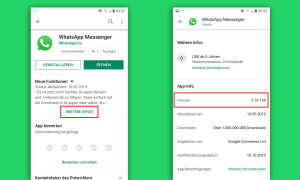 whatsapp update android version