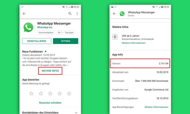 whatsapp kontrollieren android