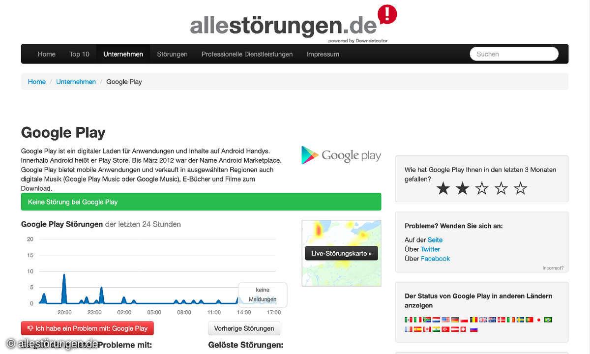 Google Play bei allestörungen.de