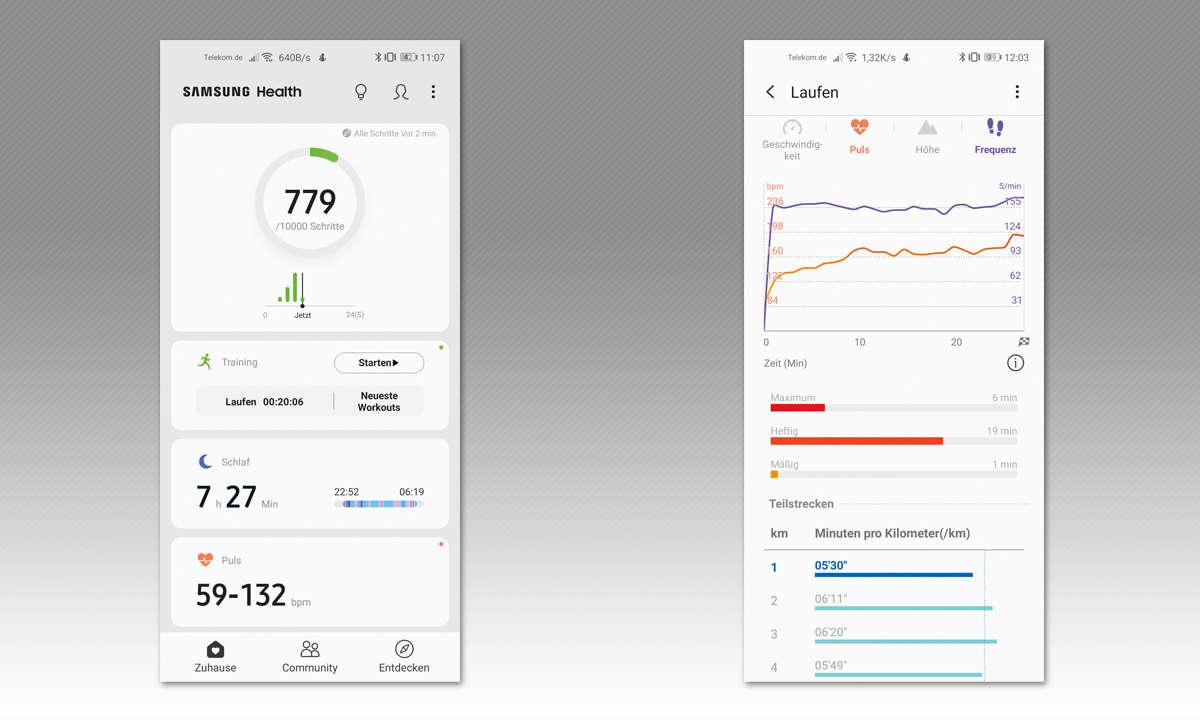 Samsung Galaxy Watch Active im Test - Screenshots