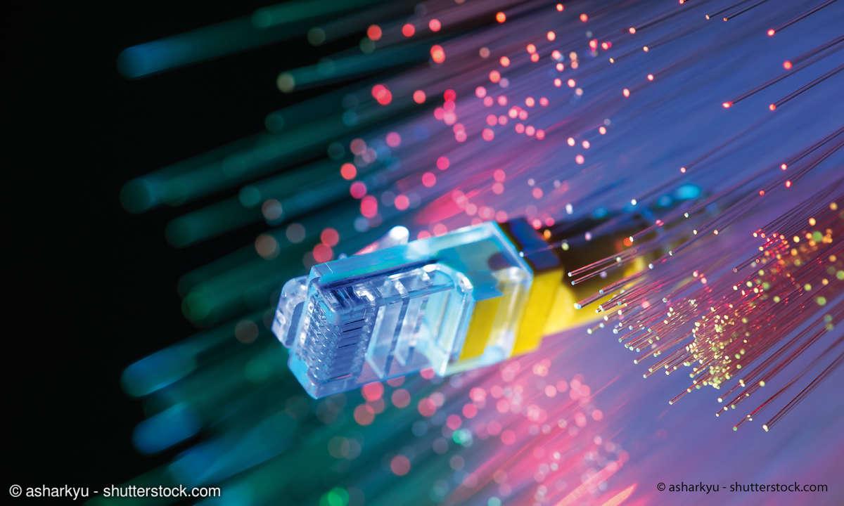 Glasfaser und Netzwerkanschluss