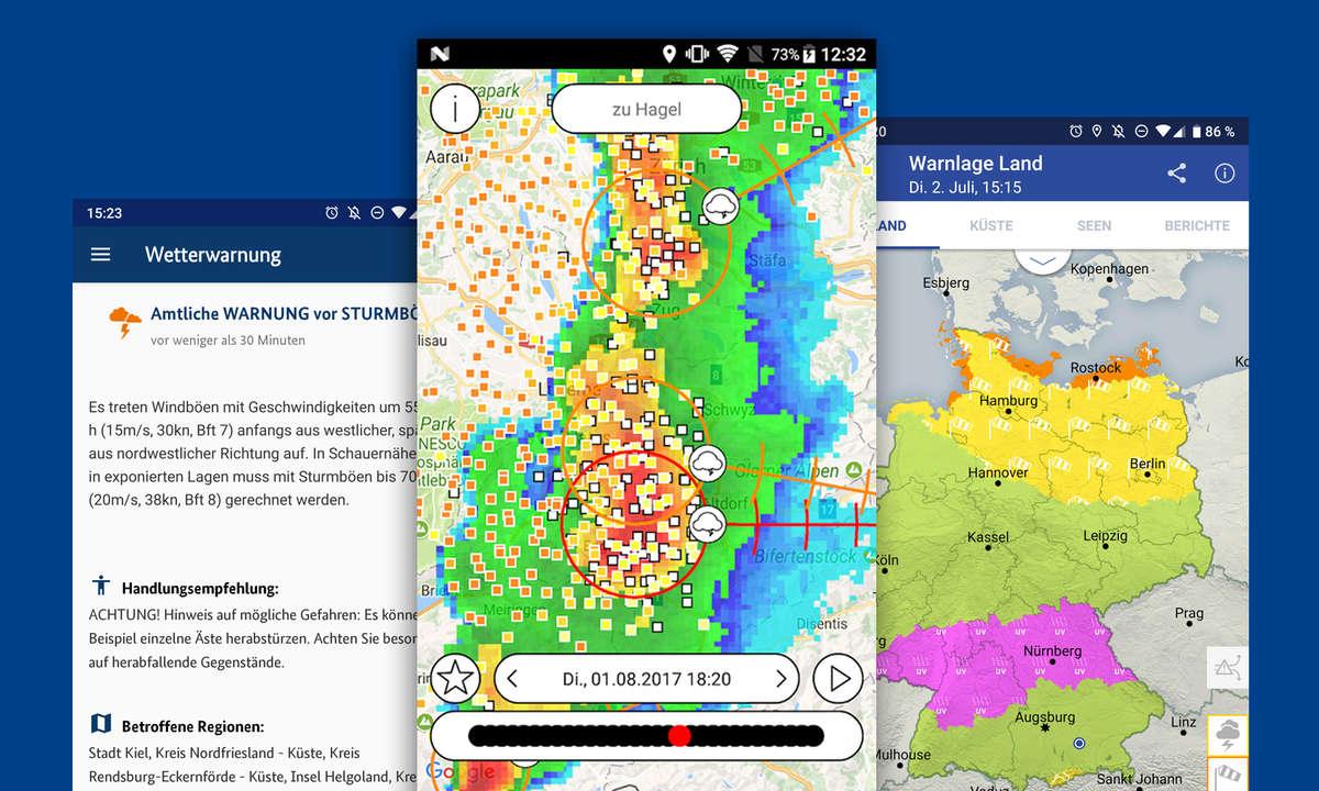 unwetterwarnung wetter apps android ios