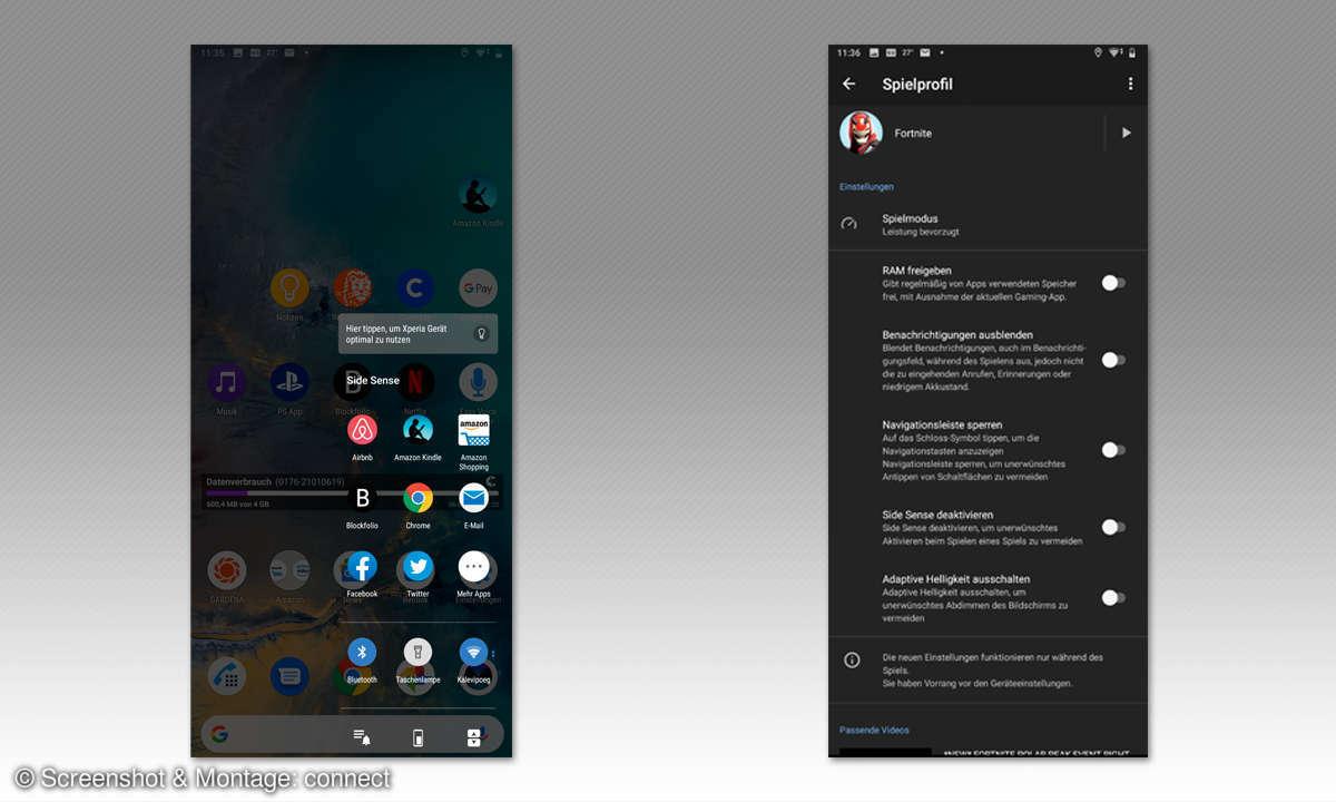 Sony Xperia 1 im Test: Screens