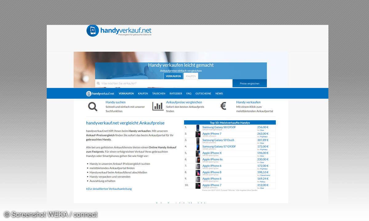 Screenshot Handyverkaufnet