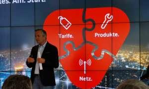 Vodafone Deutschland CEO Hannes Ametsreiter beim Start des 5G-Handy-Netz