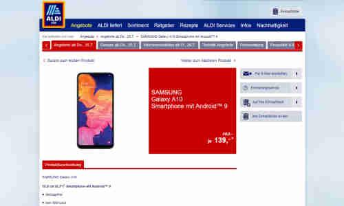 Micro Sim Karte Aldi.Samsung Galaxy A10 Lohnt Sich Das Angebot Von Aldi Nord Und Süd