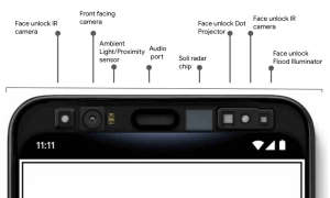Die neue Sensorphalanx im Pixel 4