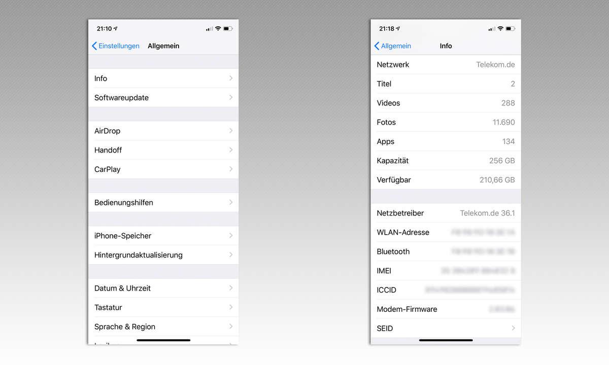 iPhone Netzwerkeinstellungen