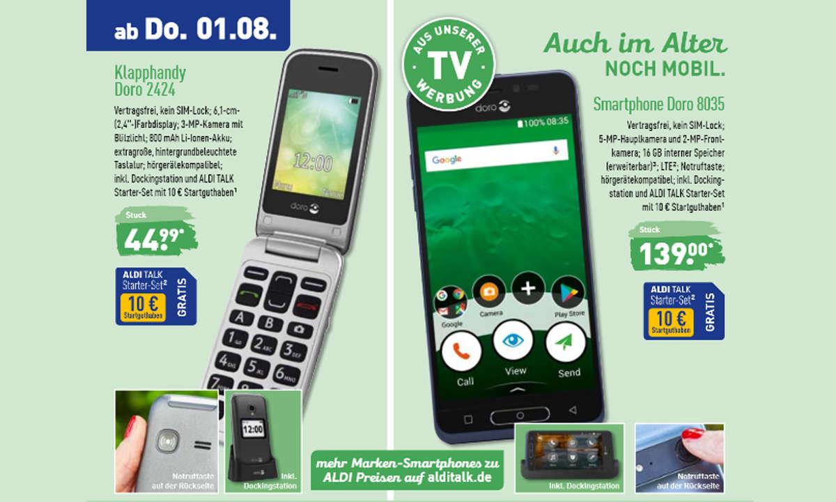 Aldi Senioren Smartphone Und Klapphandy Doro Ab 1 August Im