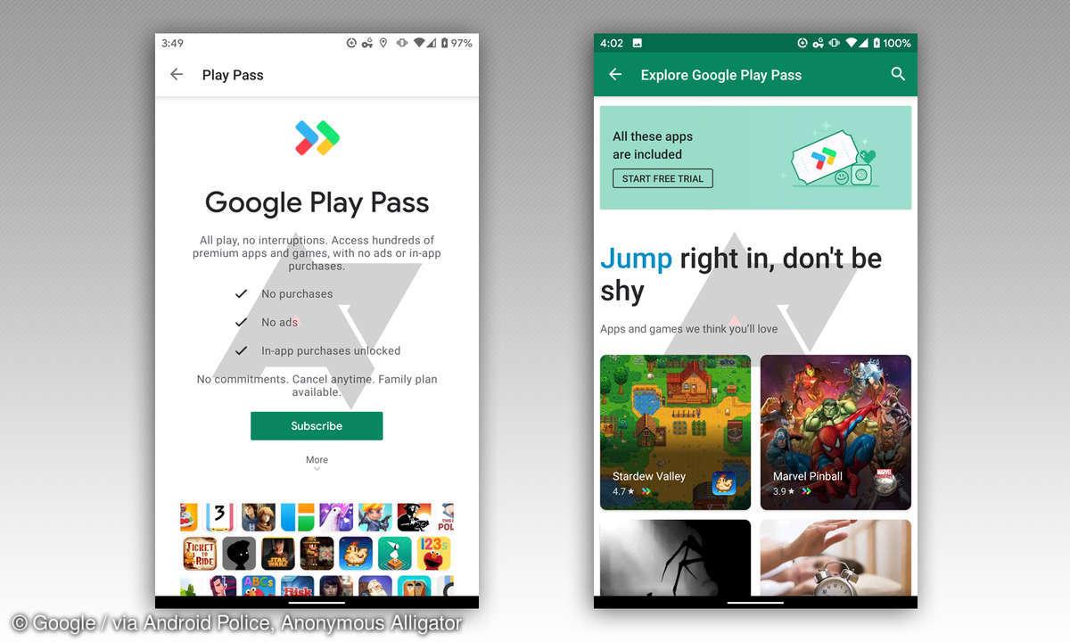 google play pass test