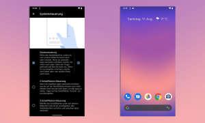 Android 10 Gestensteuerung
