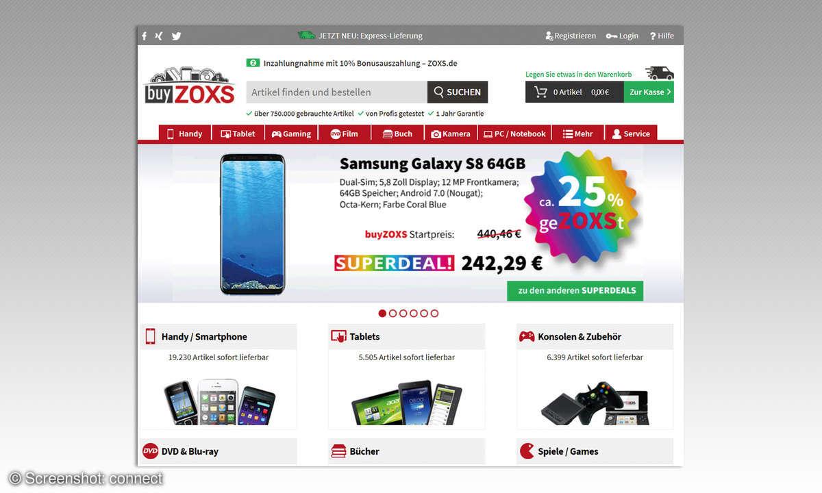 Buyzoxs Webseite