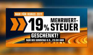 19 Prozent Mehrwertsteuer