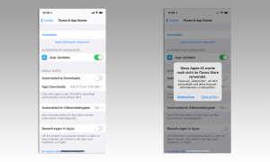 Im App Store anmelden