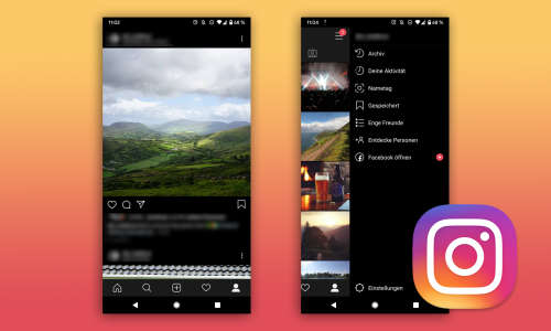 Nachtmodus Instagram Android