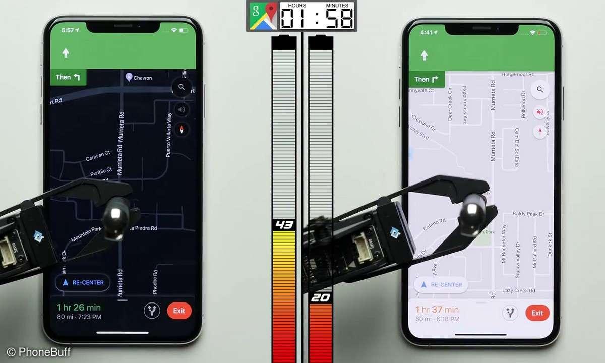 iphone ios 13 dark mode akku test