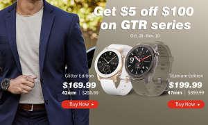 Amazfit GTR: Glitter- und Titanium Edition