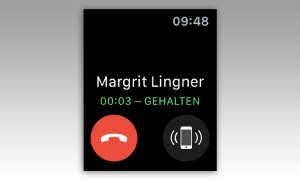 Apple Watch: Anruf halten