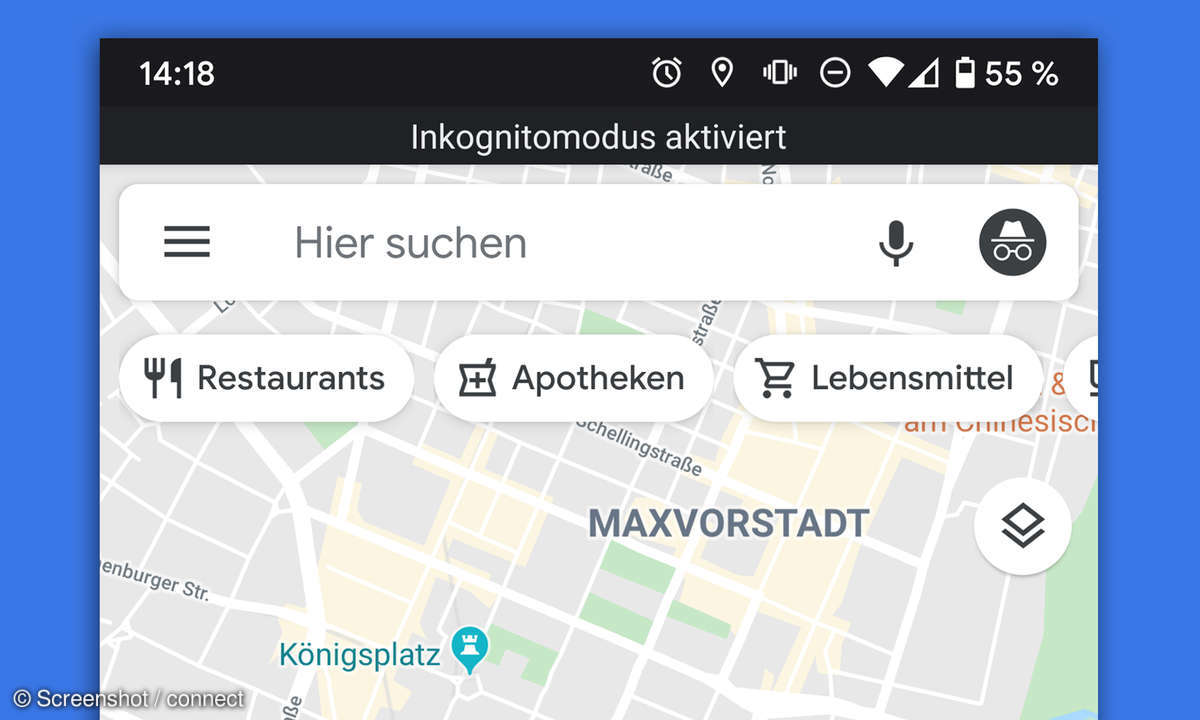 google maps inkognito modus