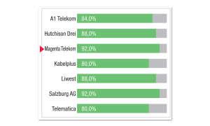 Breitbandfestnetz-Anbieter in Österreich: Kategorie-Bewertung Ladezeiten Magenta Telekom