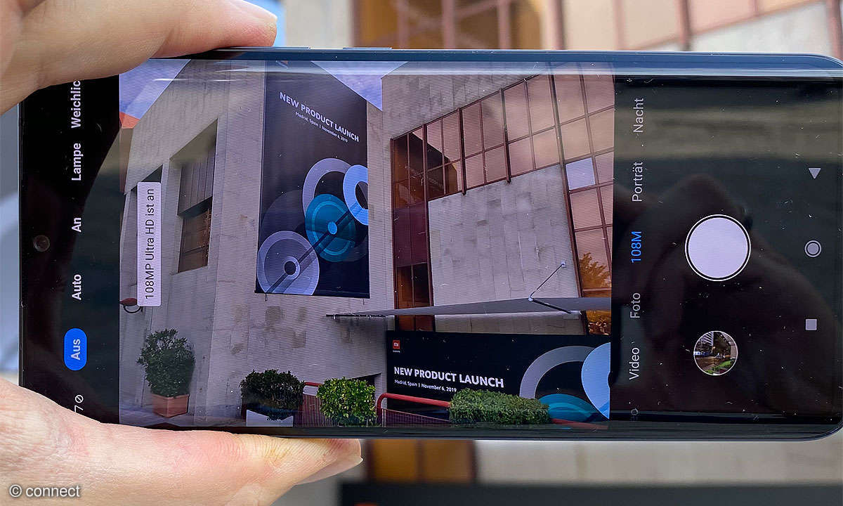 Xiaomi Mi Note 10 im Modus 108 Megapixel