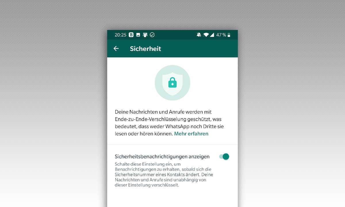 WhatsApp Sicherheitsbenachrichtigung