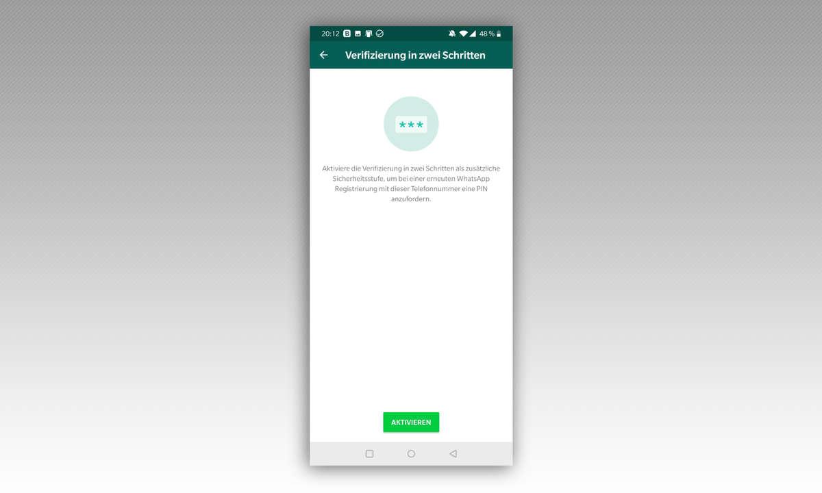 WhatsApp Zwei-Faktor-Authentifizierung