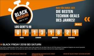 Black Friday 2019: Saturn-Angebote zum Black Weekend