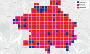 Städtewertung: Das beste Handy-Netz in Berlin - Verteilung Kacheln