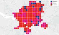 Städtewertung: Das beste Handy-Netz in Hamburg - Verteilung Kacheln