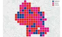Städtewertung: Das beste Handy-Netz in Köln - Verteilung Kacheln