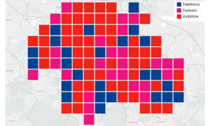 Städtewertung: Das beste Handy-Netz in München - Verteilung Kacheln