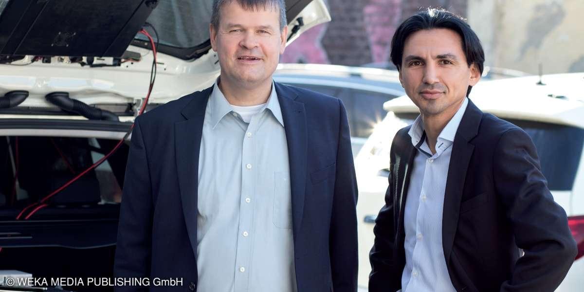Bernd Theiss von connect und Hakan Ekmen, Geschäftsführer von umlaut