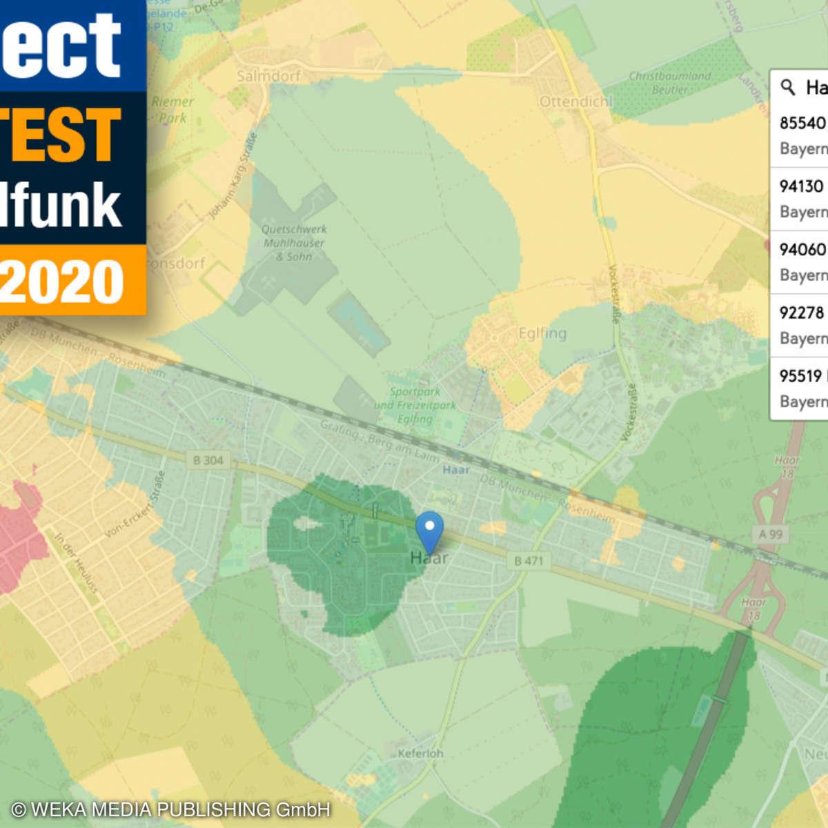 connect Mobilfunk Netztest 2020