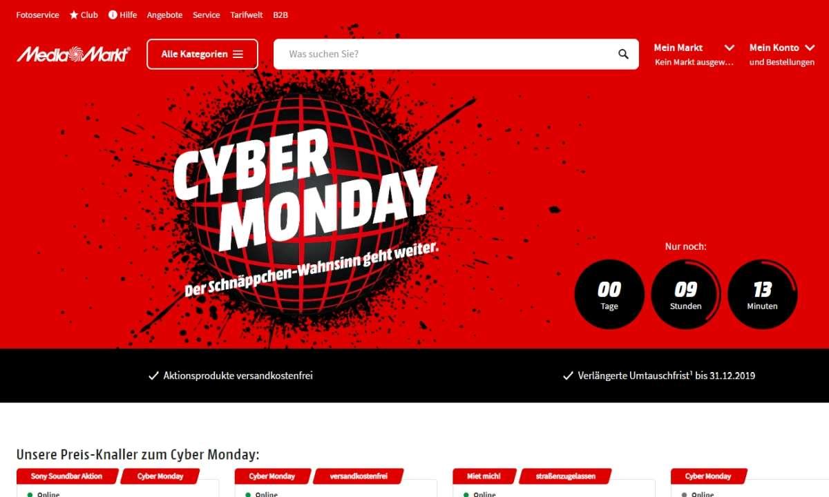 Cyber Monday bei Media Markt