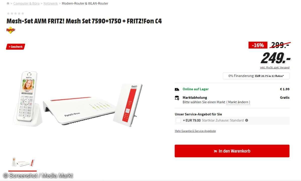 AVM-Mesh-Set en oferta con Fritz Fon C4