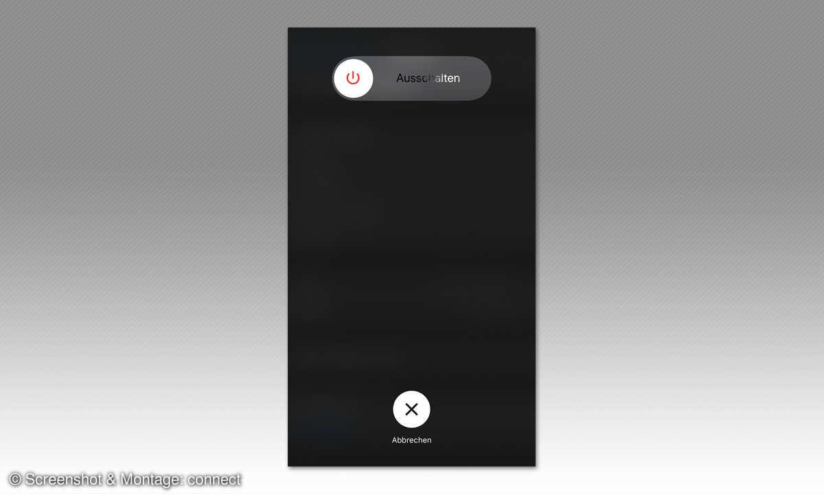 iPhone 11: Ausschalten oder Neustart erzwingen - Screenshot