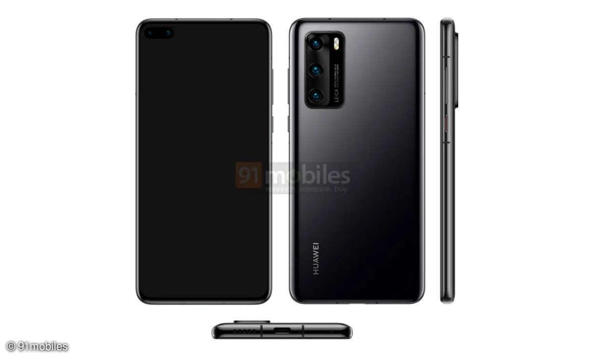 Huawei P40 Leak von 91 Mobiles