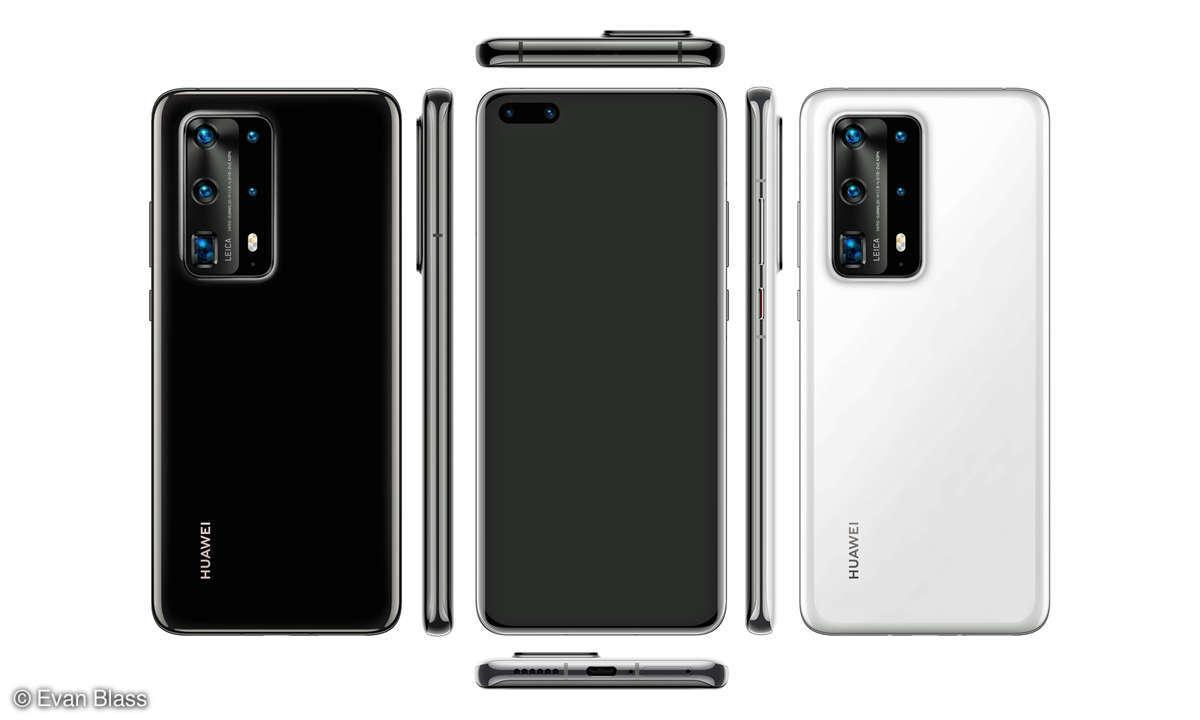 Huawei P40 Pro Leak von evleaks