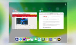 Multitasking iOS 13: Exposé für Safari-Fenster