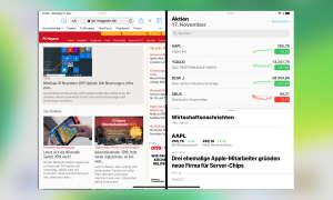 Multitasking iOS 13: Split View Display Aufteilung
