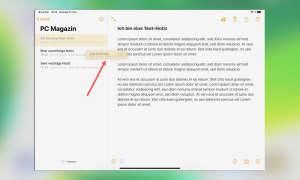 Multitasking iOS 13: Notiz in Split View öffnen