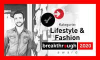 breakthrough award 2020 - Lifestyle und Fashion