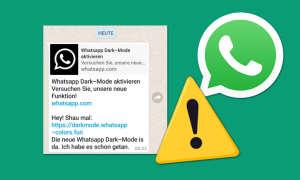 WhatsApp Kettenbrief Dark Mode