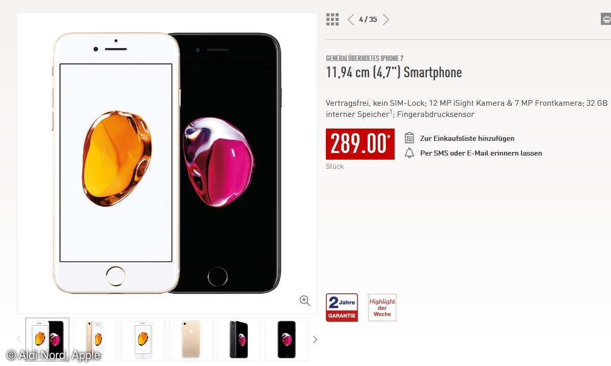 iPhone 7 bei Aldi