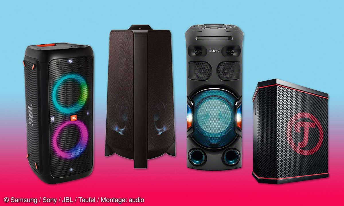 Samsung, JBL & Co.: Partyboxen im Vergleichstest
