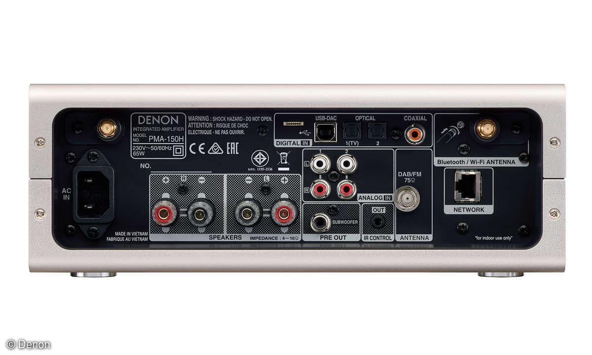 Denon PMA-150H & DCD-100 im Test - Anschlüsse