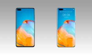 Huawei P40 und P40 Pro Front von evleaks