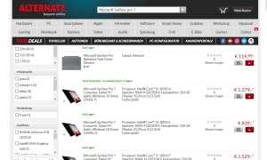 Online-Shop Test 2020: Alternate Screenshot