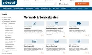 Online-Shop Test 2020: cyberport Screenshot